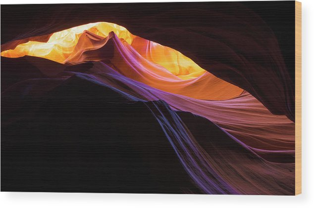 Rainbow Canyon Wood Print featuring the photograph Rainbow Canyon by Chad Dutson