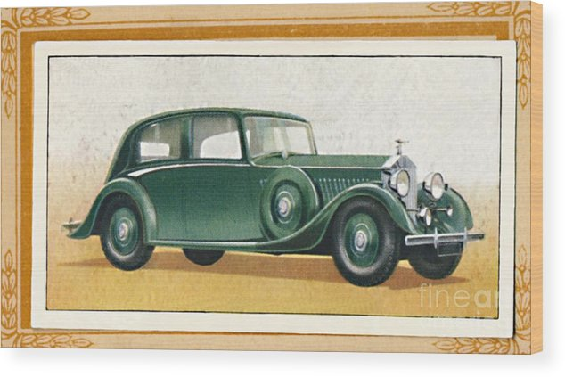 Rolls Royce Wood Print featuring the drawing Rolls-royce 20-25 Saloon, C1936 by Print Collector