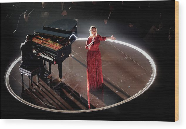 People Wood Print featuring the photograph The 58th Grammy Awards - Roaming Show by Christopher Polk