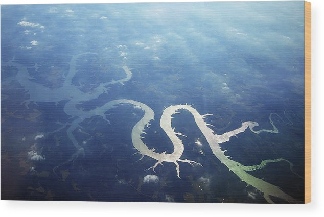 Scenics Wood Print featuring the photograph View Of Lake Of Ozarks by Copyright John Picken