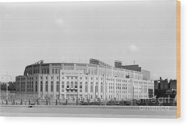 American League Baseball Wood Print featuring the photograph Yankee Stadium by Olen Collection