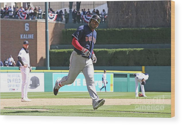 People Wood Print featuring the photograph Pablo Sandoval by Leon Halip