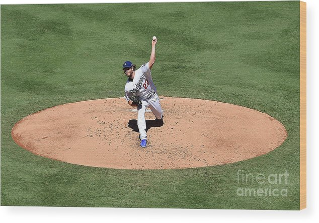 People Wood Print featuring the photograph Clayton Kershaw by Jayne Kamin-oncea