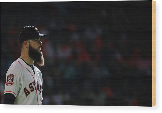 Second Inning Wood Print featuring the photograph Dallas Keuchel by Scott Halleran