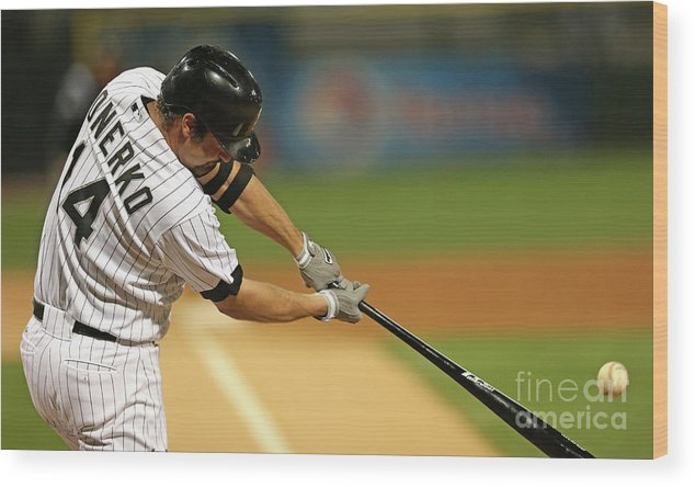 American League Baseball Wood Print featuring the photograph Paul Konerko by Jonathan Daniel