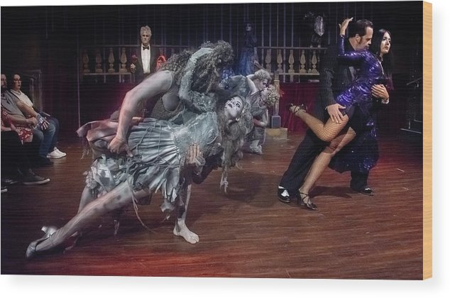 Adams Family Wood Print featuring the photograph Adams Family Dance by Alan D Smith