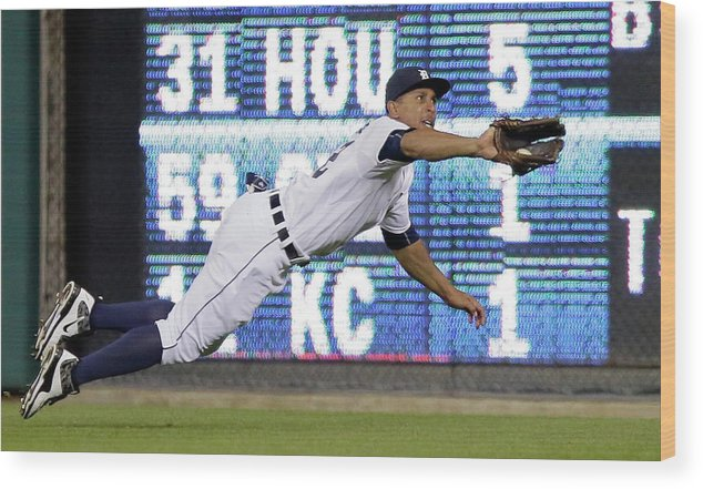 Ninth Inning Wood Print featuring the photograph Anthony Gose and Ben Zobrist by Duane Burleson