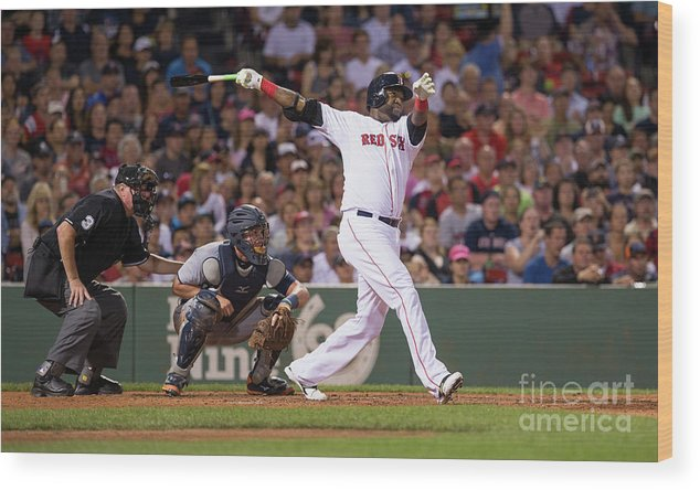 People Wood Print featuring the photograph David Ortiz by Rich Gagnon