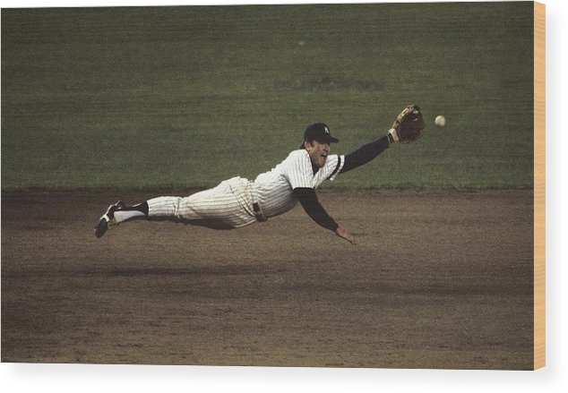 1980-1989 Wood Print featuring the photograph Graig Nettles by Ronald C. Modra/sports Imagery