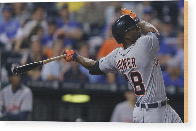Ninth Inning Wood Print featuring the photograph Torii Hunter by Ed Zurga
