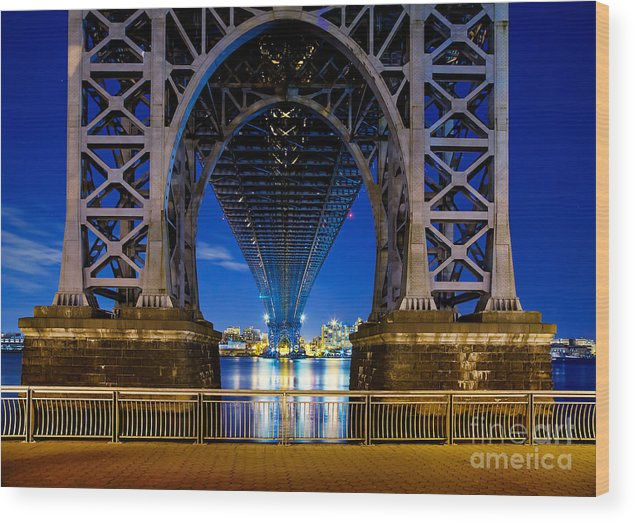Williamsburg Bridge Wood Print featuring the photograph Blue Punch by Az Jackson
