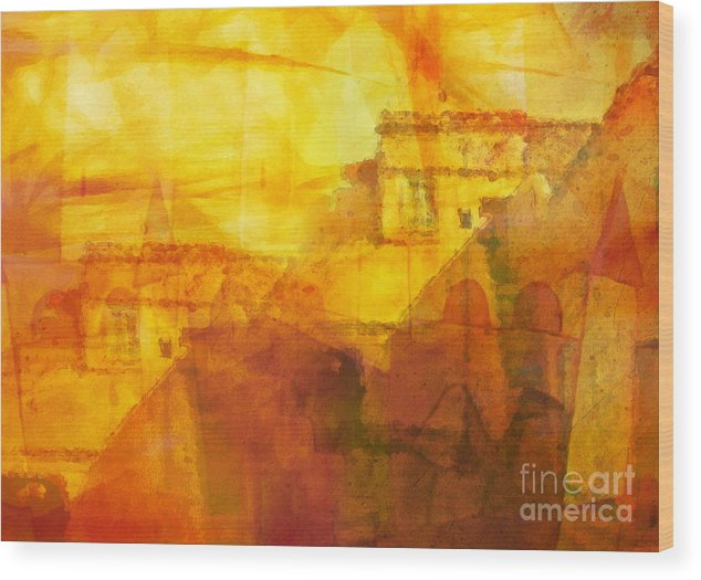 Morocco Wood Print featuring the painting Morocco Impression by Lutz Baar