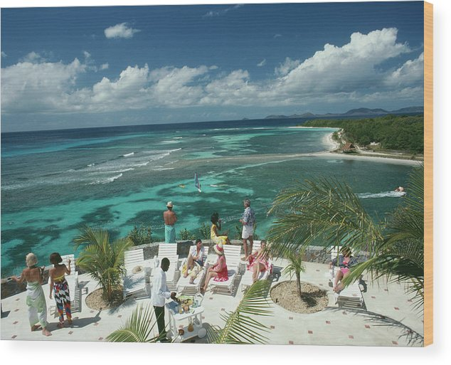 1980-1989 Wood Print featuring the photograph Tropical Mustique by Slim Aarons