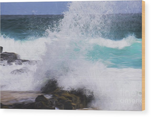 Surf Wood Print featuring the photograph Crash by Sheila Smart Fine Art Photography
