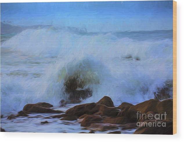 Crashing Waves Wood Print featuring the photograph Crashing waves by Sheila Smart Fine Art Photography