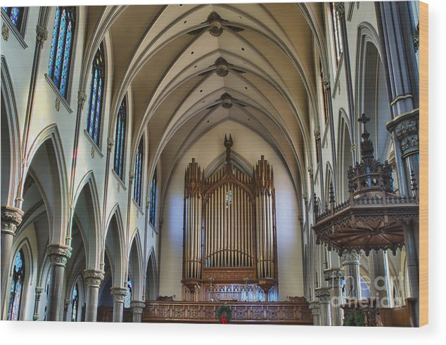 Wood Print featuring the photograph St Louis Church 13 by Chuck Alaimo