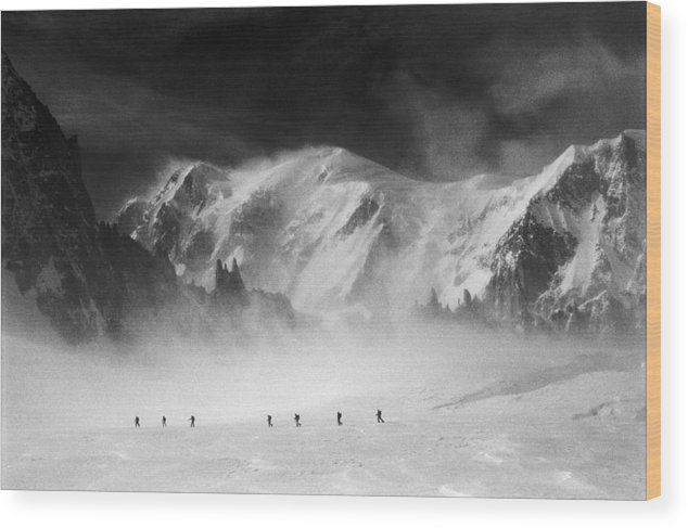 Mont Blanc Wood Print featuring the photograph Mont Blanc by Andrea Gabrieli