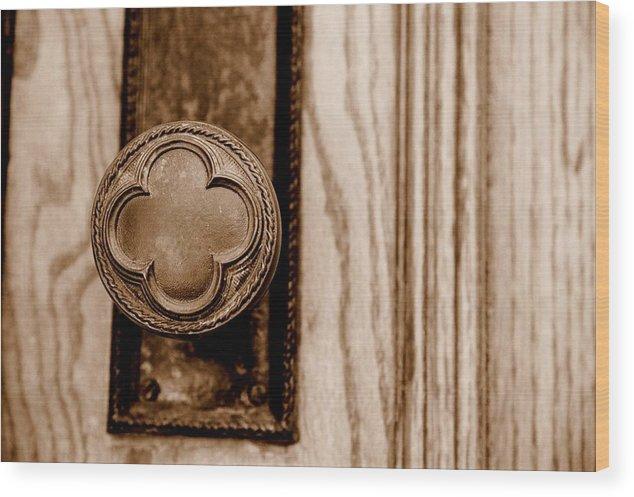 Doorknob Wood Print featuring the photograph Antique Doorknob by Caroline Clark