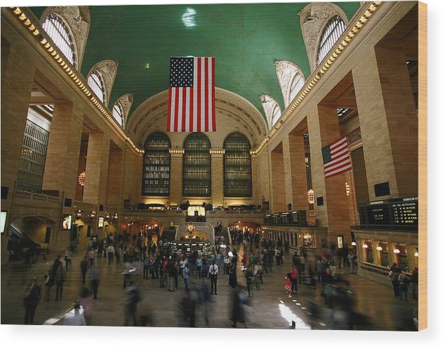 Grand Central Station Wood Print featuring the photograph Grand Central Station by Caroline Clark