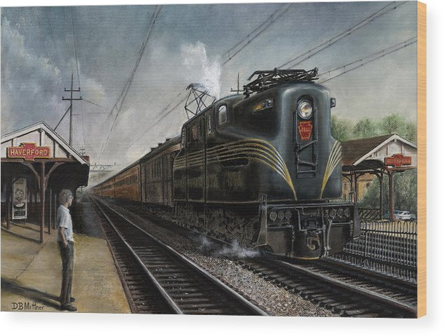 Trains Wood Print featuring the painting Mainline Memories by David Mittner