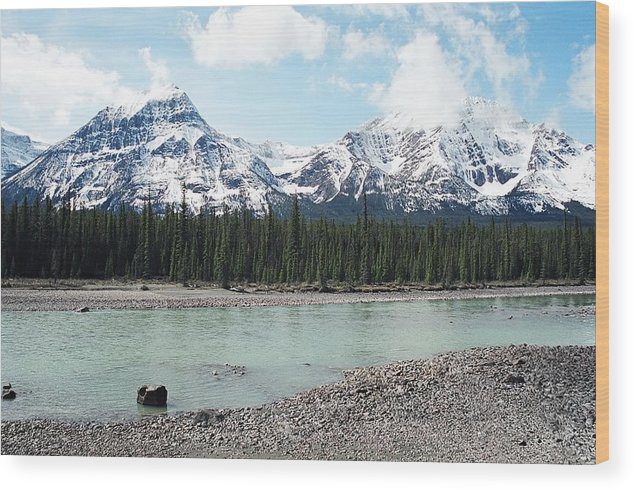 Landscape Wood Print featuring the photograph Mountain and Stone by Caroline Clark