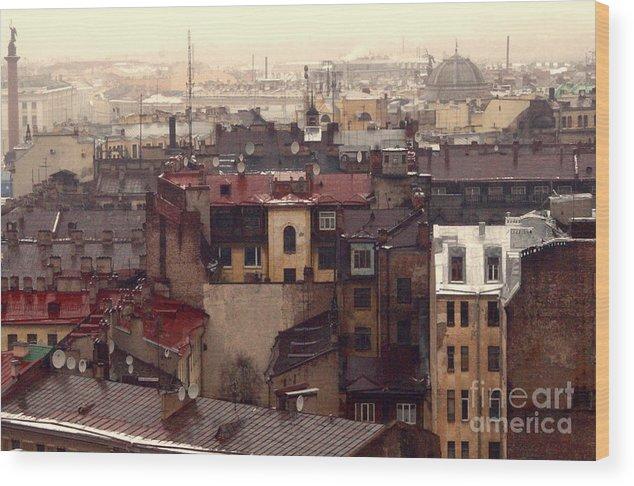 Buildings Wood Print featuring the photograph Old old city by Vadim Grabbe