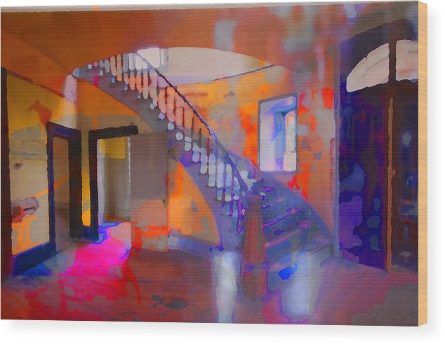 Stairs Wood Print featuring the photograph Stairway by Danielle Stephenson