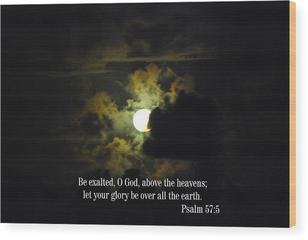 Christian Wood Print featuring the photograph Summer Moon by Steven Rice