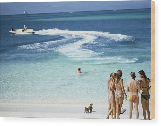People Wood Print featuring the photograph Lyford Cay by Slim Aarons