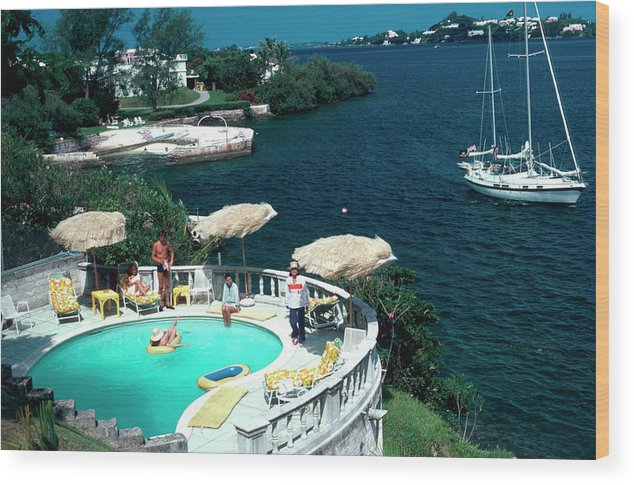 People Wood Print featuring the photograph Bermuda Idyll by Slim Aarons
