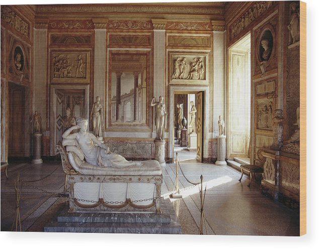 Sculptor Wood Print featuring the photograph Canova Sculpture by Slim Aarons