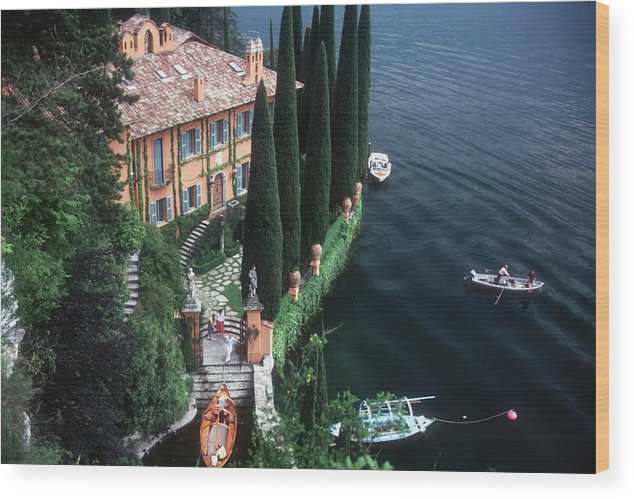 1980-1989 Wood Print featuring the photograph Giacomo Montegazza by Slim Aarons