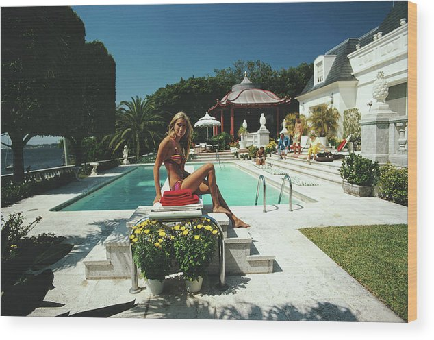 People Wood Print featuring the photograph Lillian Crawford by Slim Aarons