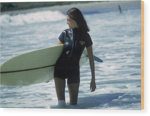 Child Wood Print featuring the photograph Minnie Cushing by Slim Aarons