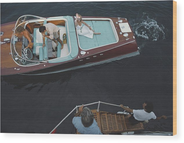 People Wood Print featuring the photograph Monte Carlo by Slim Aarons