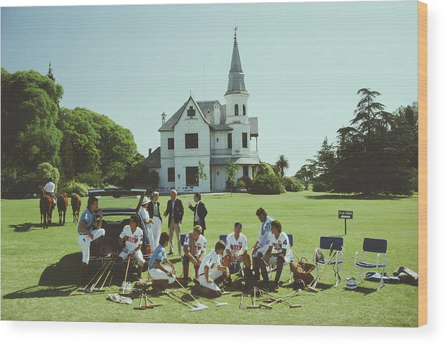 Horse Wood Print featuring the photograph Polo Gear by Slim Aarons