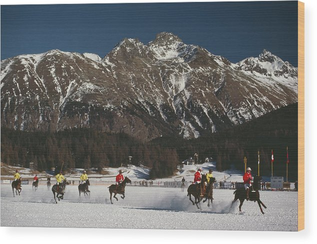 Horse Wood Print featuring the photograph Polo World Cup by Slim Aarons