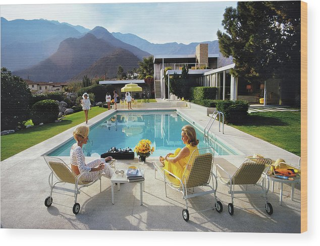 People Wood Print featuring the photograph Poolside Glamour by Slim Aarons