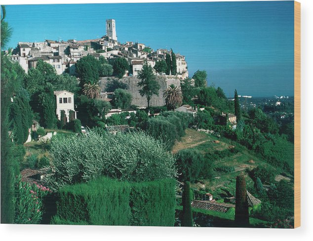 1980-1989 Wood Print featuring the photograph St. Paul De Vence by Slim Aarons