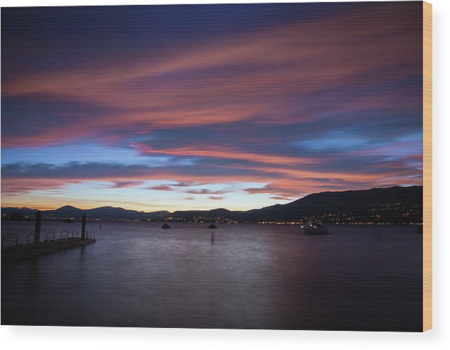 Sunset Wood Print featuring the photograph Tahoe at Sunset by Fred DeSousa