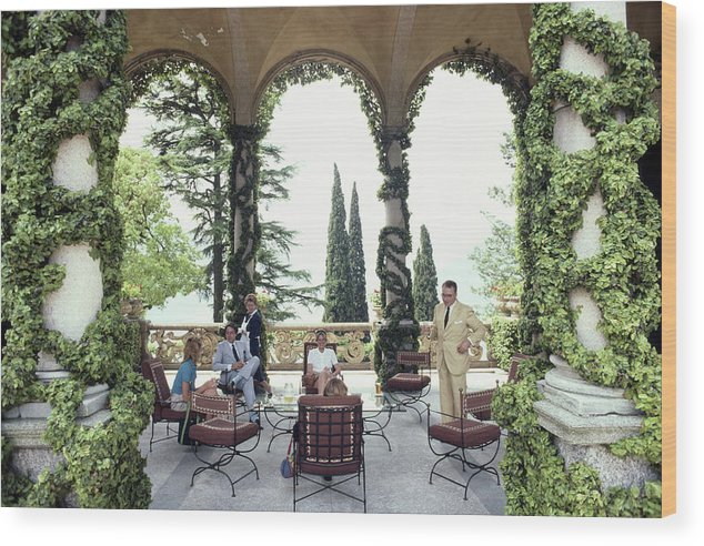 1980-1989 Wood Print featuring the photograph Villa Del Balbianello by Slim Aarons