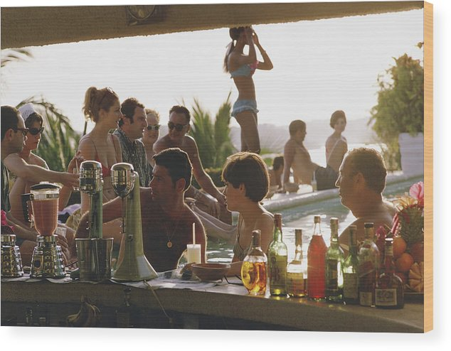Spa Wood Print featuring the photograph Villa Vera by Slim Aarons