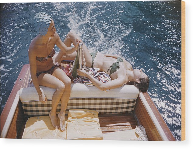 1950-1959 Wood Print featuring the photograph Vuccino And Rava by Slim Aarons
