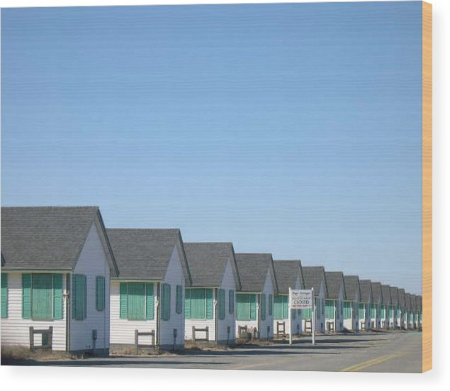 Cottages Wood Print featuring the photograph Perspective to P-Town by Rebecca Marona