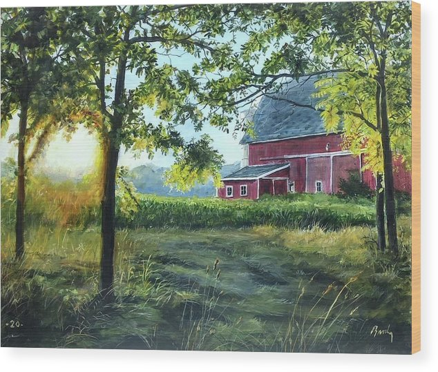 Barn Wood Print featuring the painting Farmer's sea by William Brody