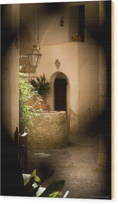 Italy Wood Print featuring the photograph Sangimignano 1 by Luigi Barbano BARBANO LLC