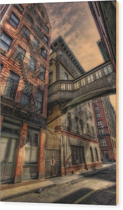 Tribeca Wood Print featuring the photograph A Bridge In Tribeca by Richard Vinson