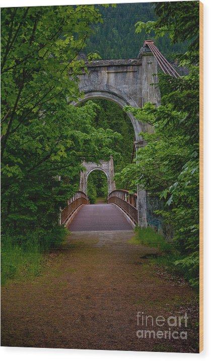 Bridge Wood Print featuring the photograph Old Alexandra Bridge by Rod Wiens