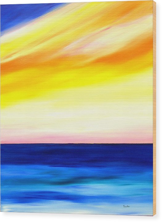 Caribbean Wood Print featuring the painting Sea Sweet Sky by Sula Chance
