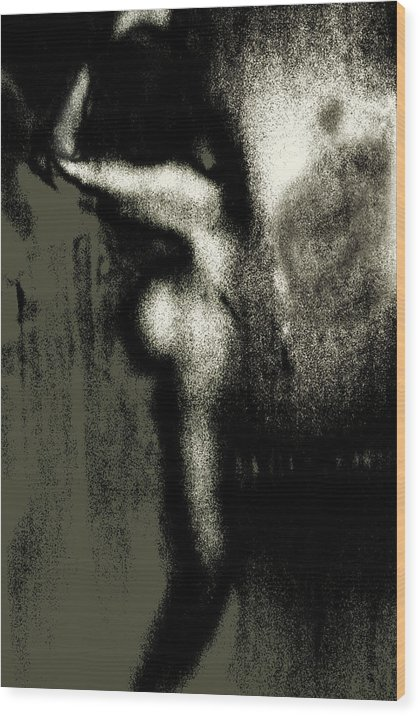 Wood Print featuring the photograph Girl Washing Her Hair by Joseph Reilly